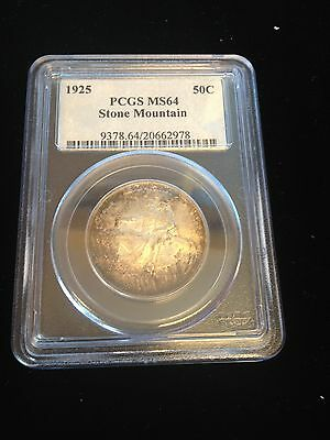 1925 Stone Mountain Half Dollar Pcgs Ms 64