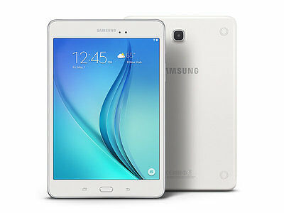 """Samsung Galaxy SM-T350NZWA  Tab A 8"""" 16GB Android 5.0 Lollipop Tablet - White"""