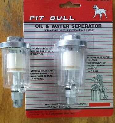 "2 Oil & Water Separator Trap Filter Separator 1/4"" NPT Air Compressor Tool Shop"