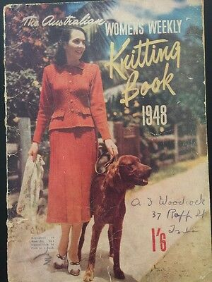 Rare 1948 Australian Womens Weekly Knitting Book For Adults, Children & Babies.