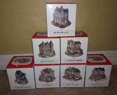 LIBERTY FALLS BUILDINGS Homes ORIGINAL BOXES THE AMERICANA COLLECTION LOT 7