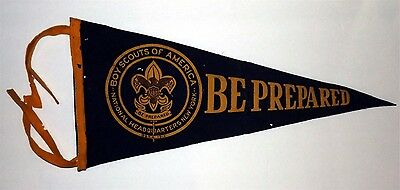 """BOY SCOUTS Pennant    """"Be Prepared   1913"""
