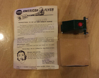 American Flyer 26756 Illuminated Track Bumper In Orig Box W/ Instructions