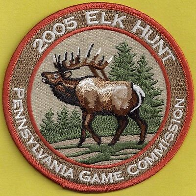 """Pa Pennsylvania Game Fish Commission Collectible 2014 4/"""" Elk Hunt Hunting Patch"""