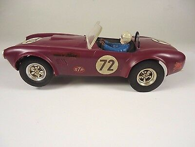 ORIGINAL REVELL 1/24 SCALE COBRA FORD SLOT CAR runs great BUY NOW FREE SHIPPING