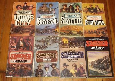 Lot of 8 STAGECOACH STATION Western Books by HANK MITCHUM