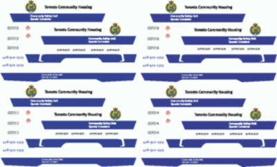 43 Scale Tchc Toronto Community Housing Special Constable Decals New-Ford Sedan