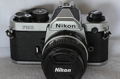 Nikon FM2N 35mm SLR Film Camera with Nikkor 50mm Lens
