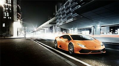 "Lamborghini Luxury Sport Super Race Car Art Silk Wall Poster 32/""x24/"" 068"