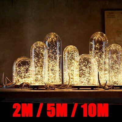 20/50/100 LED String Copper Wire Fairy Lights Battery Powered Waterproof ^9