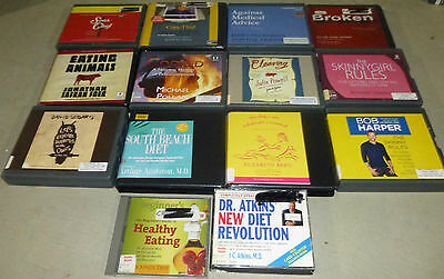 Lot of 14 Health/Diet Related Nonfiction Audiobooks on CD