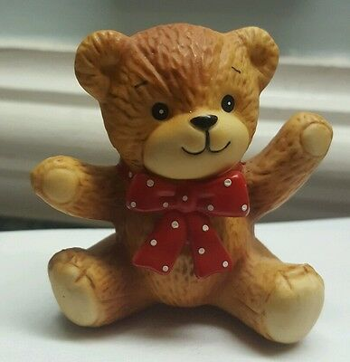 1980 Enesco Lucy and Me Porcelain Baby BEAR Figurine Collectible