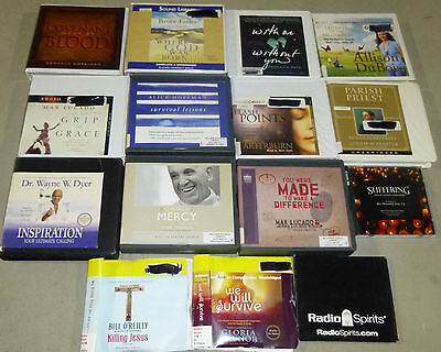 Lot of 15 Religious/Inspirational Nonfiction Audiobooks on CD