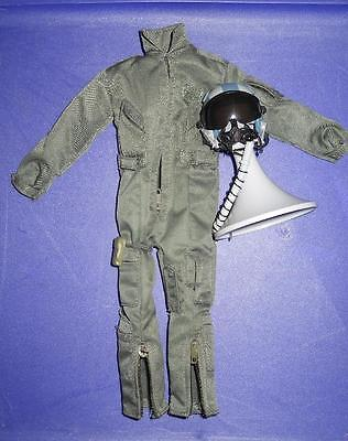 1/6 Scale Modern US Air Force Fighter Pilot Suit and Helmet LOT Loose