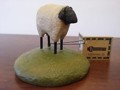 Blossom Bucket Sheep On Pedastal With Tag, Mint Condition