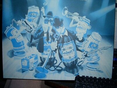 Double Blue Blues Brothers Band - Labatt's Blue Bear Plaque Mounted Poster