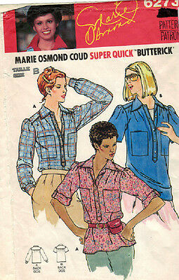 Butterick Pattern 6273 - Misses Shirt - Sizes: 8-10-12-14-16-18