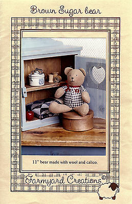 "Brown Sugar Bear 11"" Pattern"