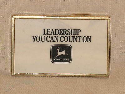 John Deere Leadership You Can Count On Tractor Belt Buckle Never Worn Mint