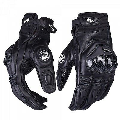 Gloves Leather Motocross Racing Motorcycle Bike Driving Finger Hand Protection