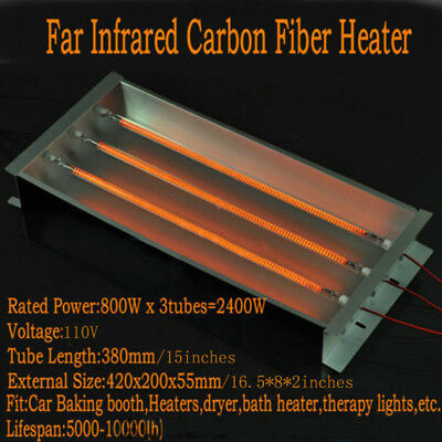 Spray/Baking Booth Infrared IR Paint Curing Heating Lamp 2400w 220V