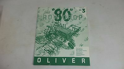Oliver 80 ROW CROP Tractor BY ERTL SCALE MODELS Manual Brochure Book