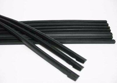 """10pcs. Silicone Windshield Wiper Blade Car Refill Length 26"""" Width 6 mm."""