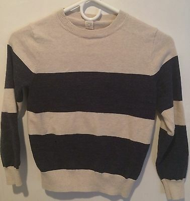 Boys J Crew Crewcuts Sweater Size 10 Oatmeal And Navy Blue
