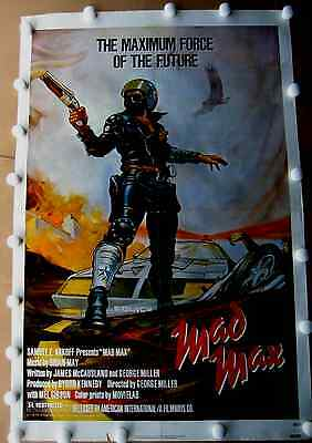 """mad Max"" Mel Gibson, Original Theatre Poster (One Sheet) 1980 (27 ""x 41"")"