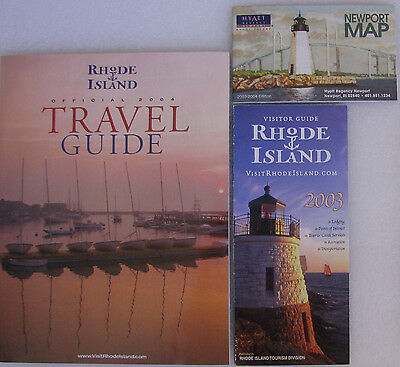 Rhode Island Official 2004 Travel Guide & Visitor Guide & Newport Map ~ USED
