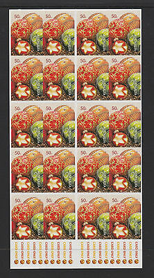 Australia 2008 : Christmas, Booklet of 20 x 50c Self-adhesive Stamps,