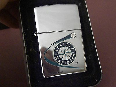 Seattle Mariners Zippo Lighter Mint In Box Retired Design Mlb