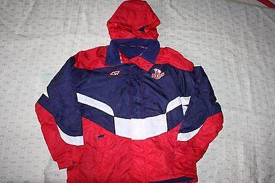Super Rugby QLD Reds Weather Coat Jacket Mens, SizeS M, Very Warm, With Defects
