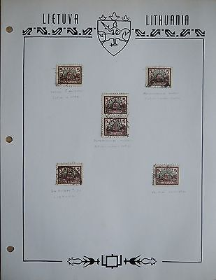 Lithuania 1923 Issue Post Stamps Set With errors.