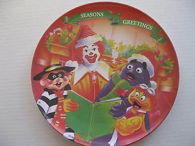"1995 MCDONALD'S 9.5"" ""Season's Greetings"" PLASTIC COLLECTOR'S PLATE"