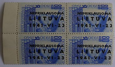 Lithuania German Occupation of Lithuania stamps set 1941 overprinted