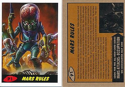 Topps Mars Attacks Mars Rules Promo Card #p1 Red New 2015