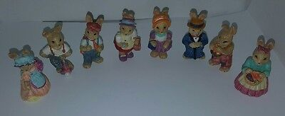 little bunnie figures statues easter decor bunny j.c. rabbit cute bunny dressed