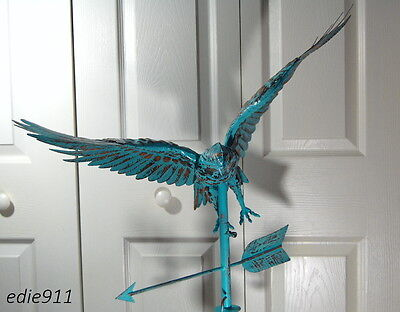 LARGE FLYING EAGLE 3D Weathervane AGED COPPER PATINA FINISH Handcrafted ~ NEW