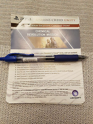 PS4 Assassins Creed Unity Chemical Revolution Mission DLC Code New Unused