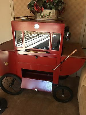 Vintage Stagecoach Barbecue Grill Staten Island Pick Up Kitchen Prop Carriage