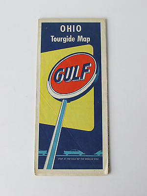 1950s Gulf Ohio Tour Guide Map