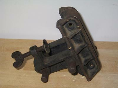 Antique Cast Iron Champion Geneva O Patent Applied For Clamp-on Bench Vise USA