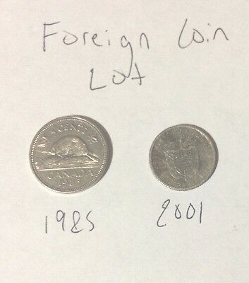 Foreign Coin Lot (2 CT.) - Foreign Coins