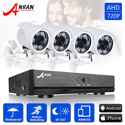 ANRAN 4CH 720p HD Outdoor Home Surveillance Security Camera System 1080N AHD DVR