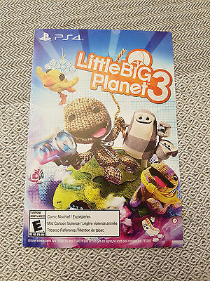 PS4 PLAYSTATION 4 Little Big Planet 3 FULL GAME Download Code NEW