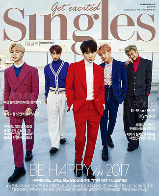 Singles Magazine 2017 Jan January Bts Bangtan Boys Clippings Page New
