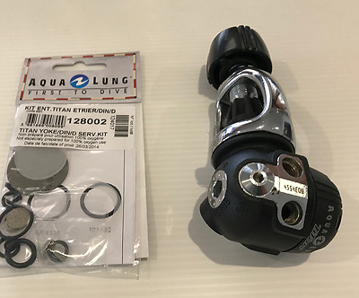 Scuba Regulator First Stage Aqualung Titan with a service Kit