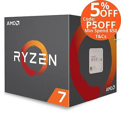 AMD Ryzen 7 1700 3.0GHz (Max 3.7GHz) Processor with Wraith Spire Cooler AM4 CPU