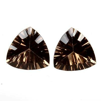 Elegant 7 Cts Natural SMOKY QUARTZ Gemstone Triangle Concave 11x10 mm s-22337